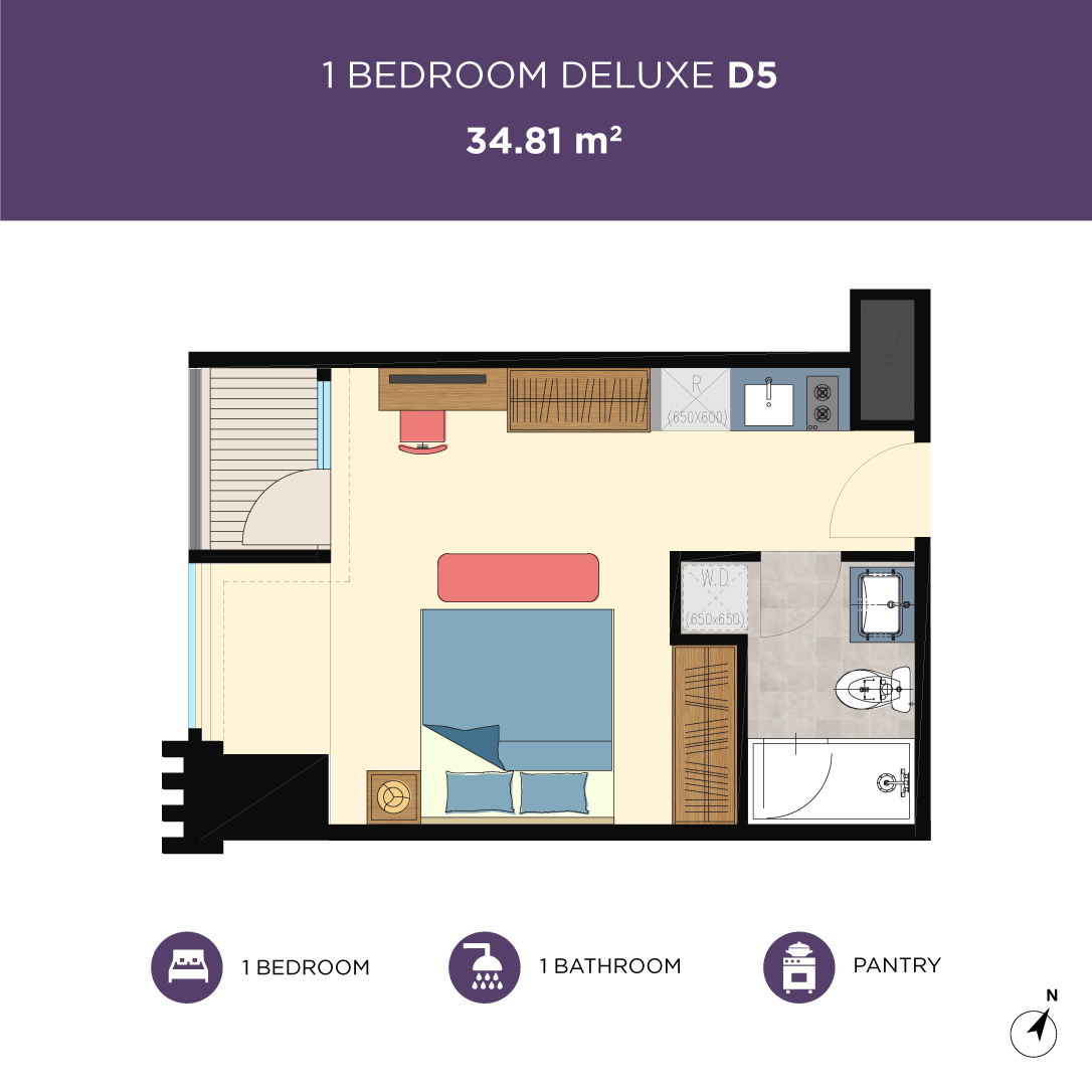 Glend-1bedroom-type-D5
