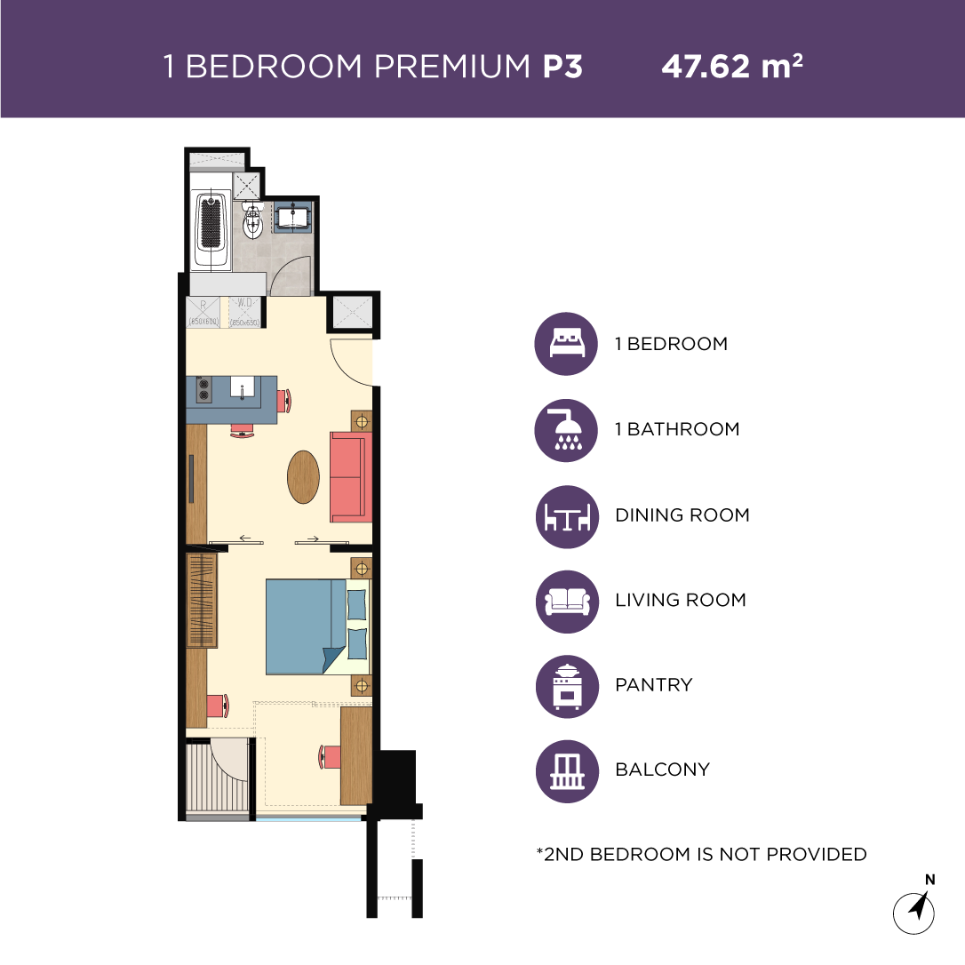 Glend-1bedroom-type-P3
