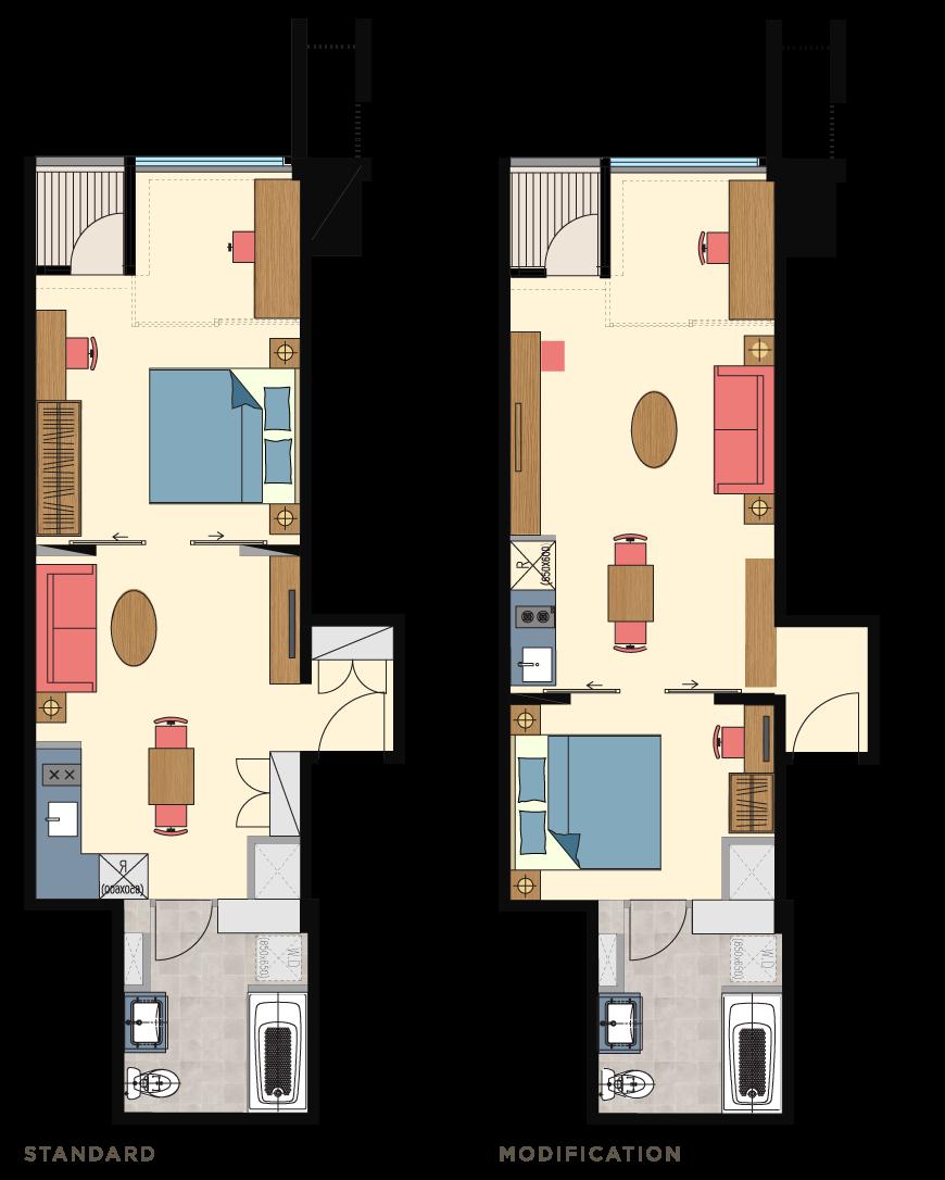 Glend-1bedroom-type-P2-Floorplan-only