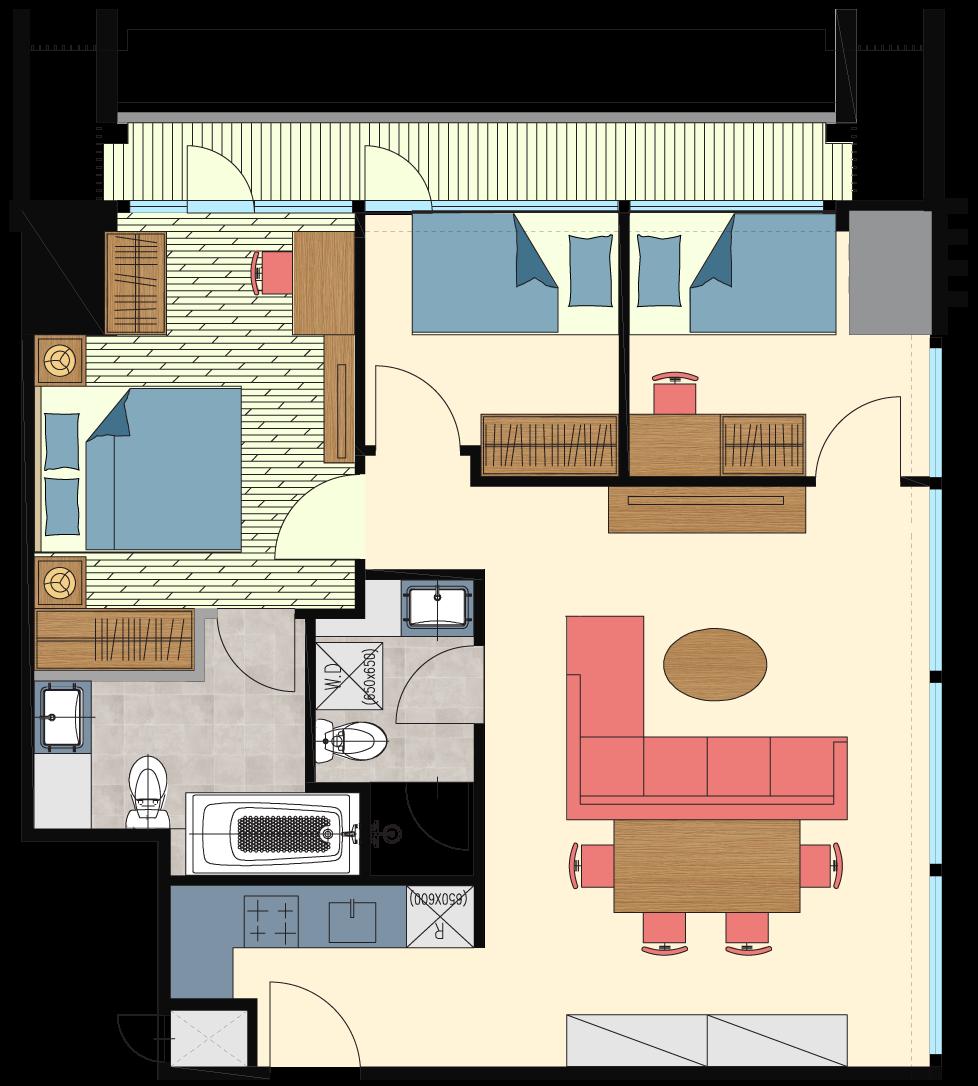Glend-3bedrooms-type-Z6-Floorplan-only