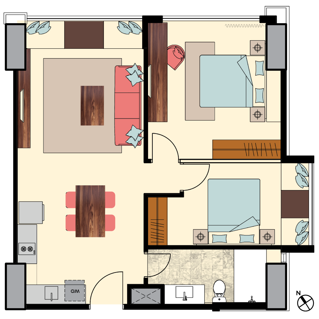 Irv-2bedrooms-type-N5-floorplan-only