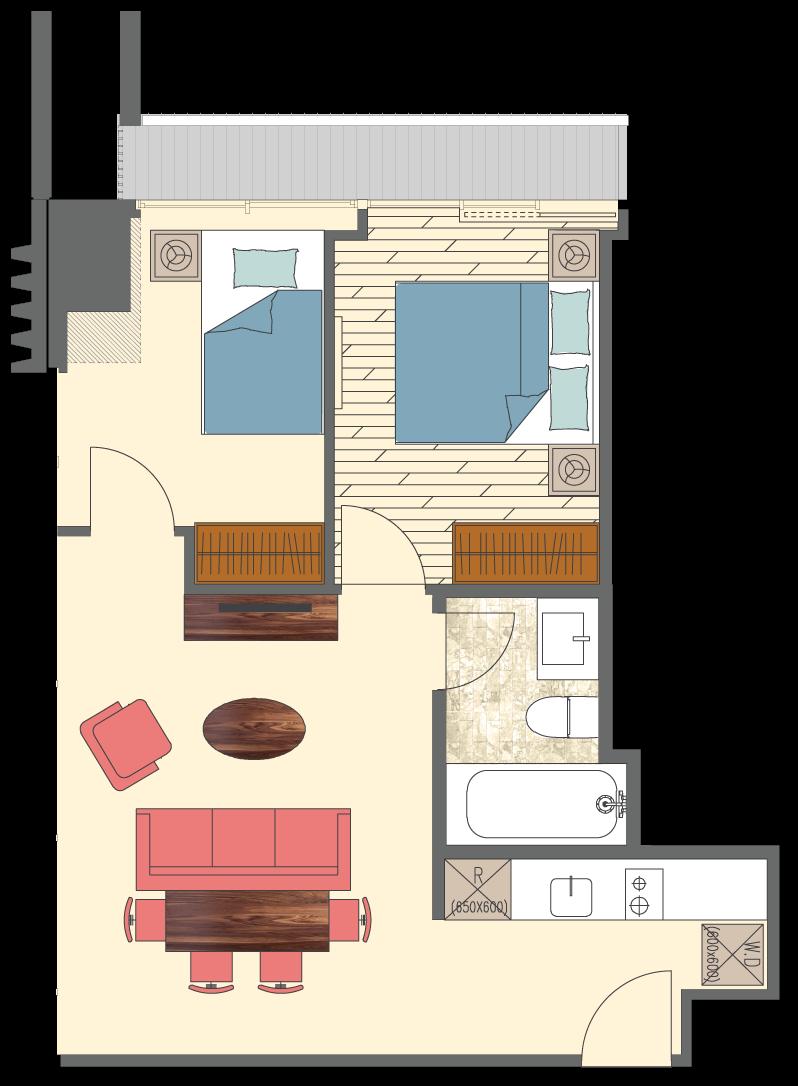 Newport-2-bedrooms-B5-floorplan-only