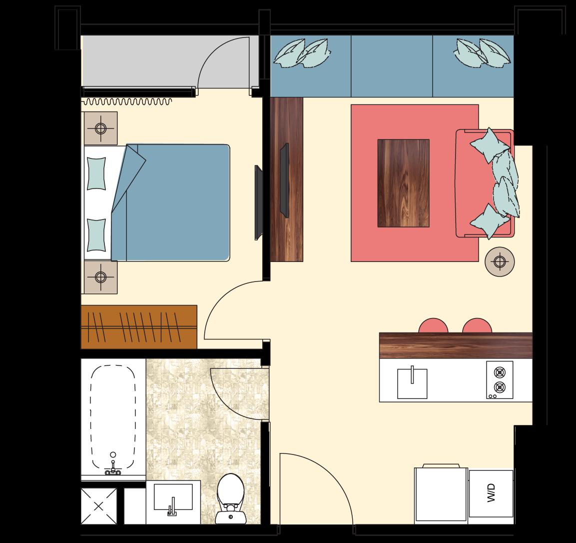 Pasadena-1-bedroom-type-N1-floorplan-only