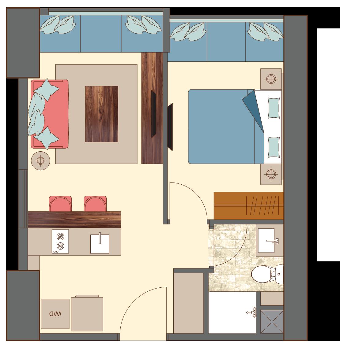 West-2-bedroom-B1 floorplan